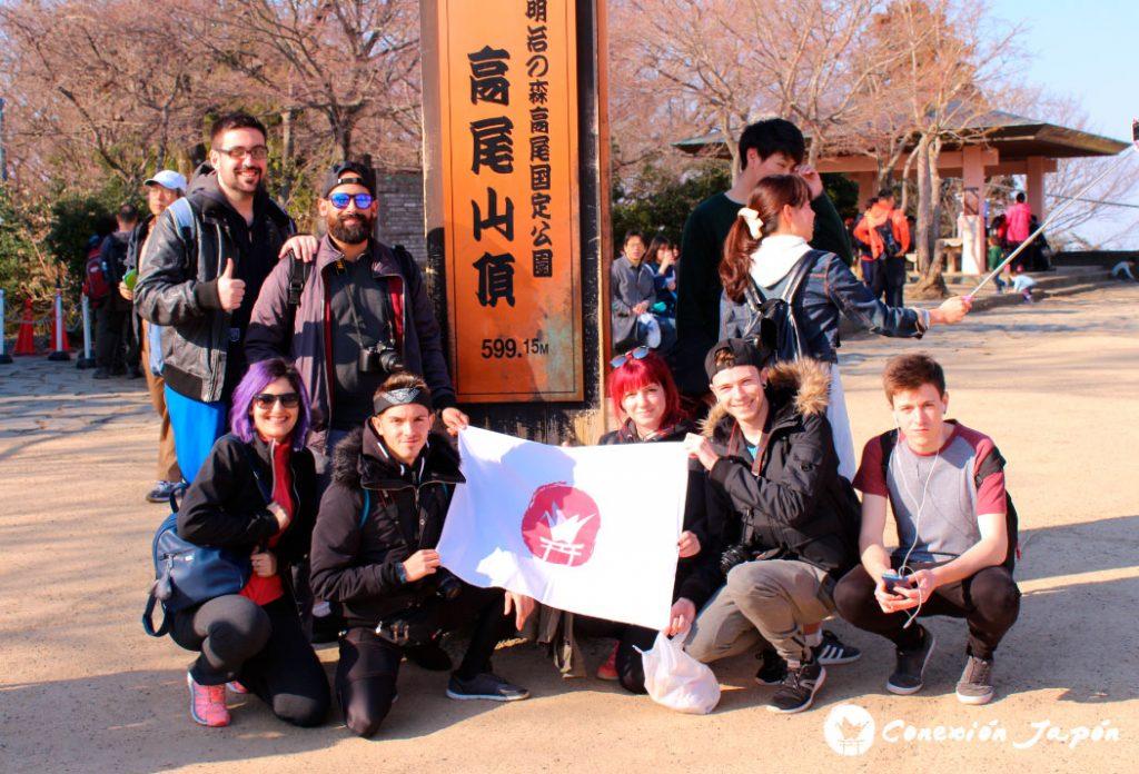 Con los viajeros de Conexión Japón en la cima del Monte Takao
